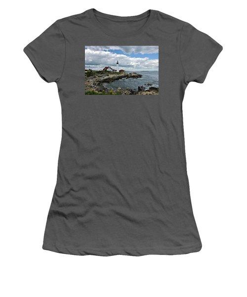 Portland Head Light, Starboard Women's T-Shirt (Athletic Fit)