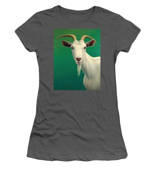 Portrait Of A Goat Women's T-Shirt (Athletic Fit)