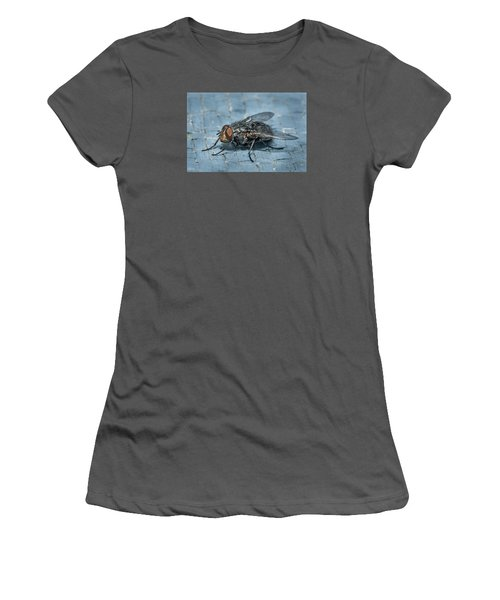Portrait Of A Young Insect As A Fly Women's T-Shirt (Junior Cut) by Greg Nyquist