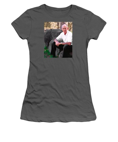 Portrait Of Dad Women's T-Shirt (Athletic Fit)