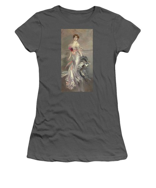 Portrait Of Marthe Regnier Women's T-Shirt (Junior Cut) by Giovanni Boldini