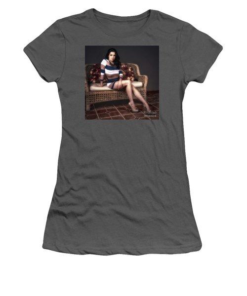 Portrait Of Vanessa  ... Women's T-Shirt (Junior Cut) by Chuck Caramella
