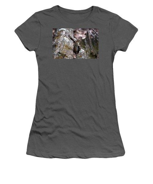 Women's T-Shirt (Junior Cut) featuring the photograph Posing #2 by Jeff Severson
