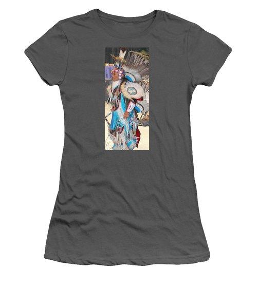 Pow Wow Dancer Women's T-Shirt (Junior Cut) by Audrey Robillard