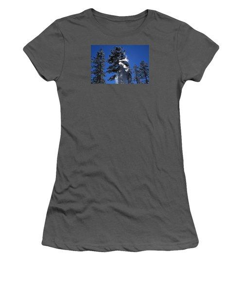 Women's T-Shirt (Junior Cut) featuring the photograph Powderfall by Gary Kaylor