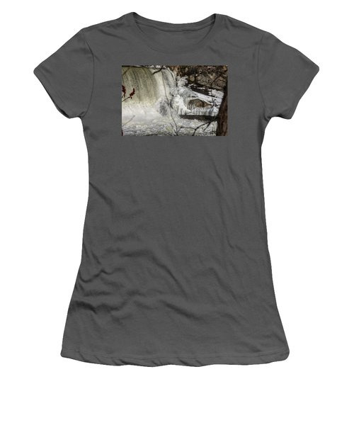 Power Station Falls On Black River  Women's T-Shirt (Athletic Fit)