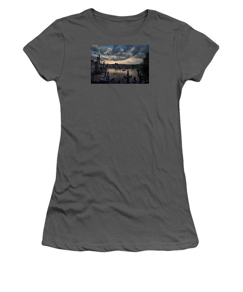 Prague Castle Women's T-Shirt (Athletic Fit)