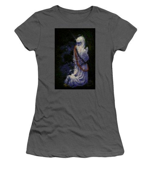 Praying Women's T-Shirt (Junior Cut) by Lori Seaman