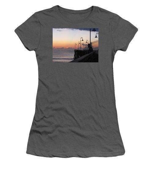 Pre-sunrise On Daytona Beach Pier   Women's T-Shirt (Athletic Fit)