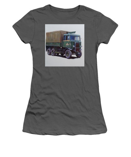 Women's T-Shirt (Junior Cut) featuring the painting Pre-war Leyland Wrecker. by Mike Jeffries