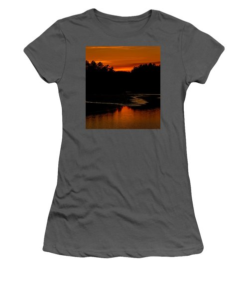 Presumpscot Sunset No.101 Women's T-Shirt (Junior Cut) by Mark Myhaver