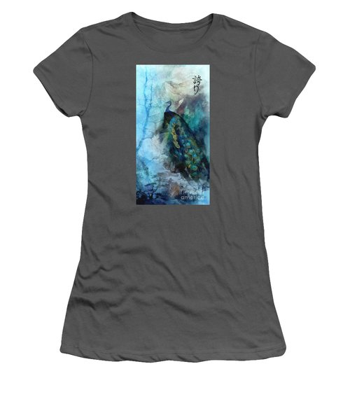 Women's T-Shirt (Junior Cut) featuring the painting Pride by Mo T