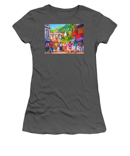Prince Arthur Street Montreal Women's T-Shirt (Junior Cut) by Carole Spandau