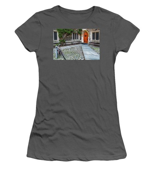 Women's T-Shirt (Junior Cut) featuring the photograph Princeton University Foulke Hall by Susan Candelario