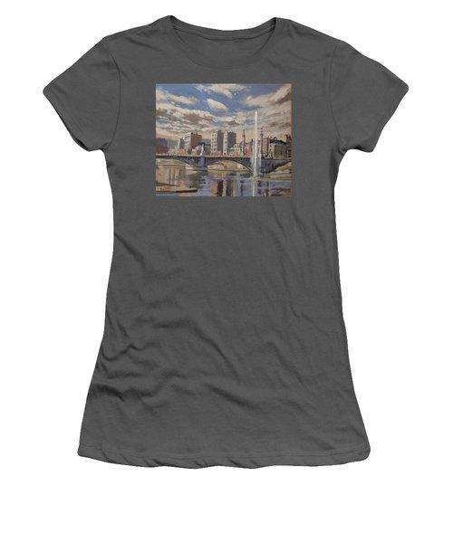 Printemps Sur Le Pont Fragnee Liege Women's T-Shirt (Athletic Fit)