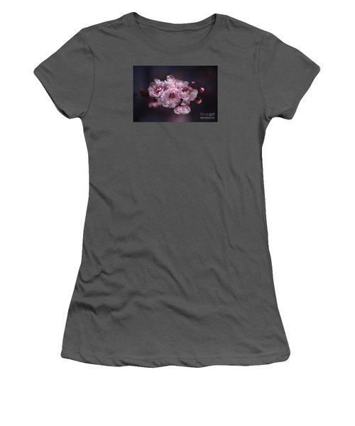 Prunus A Pink Spring Women's T-Shirt (Junior Cut) by Joy Watson