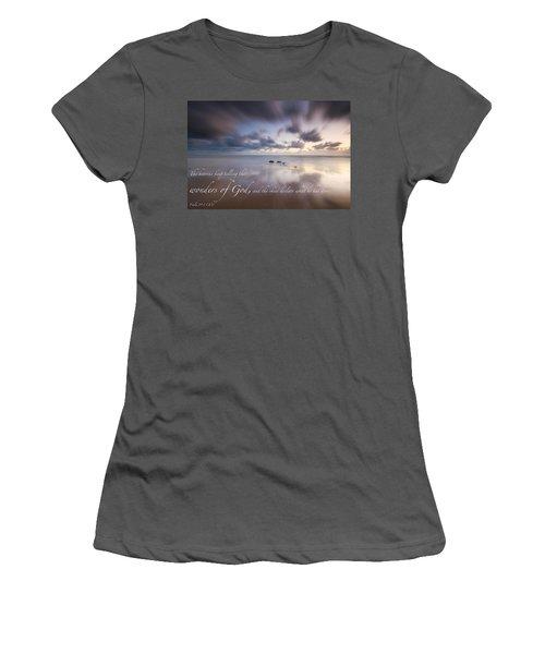 Psalm 19 1 Women's T-Shirt (Athletic Fit)