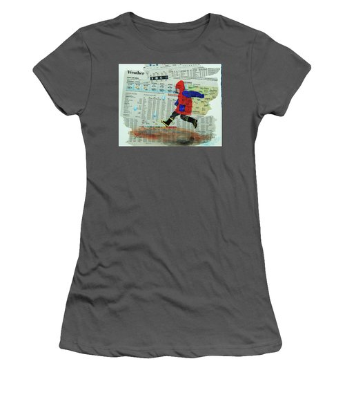 Puddle Jumping Women's T-Shirt (Athletic Fit)