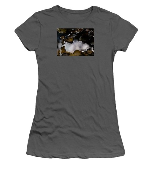 Puddle Of Leaves Women's T-Shirt (Junior Cut) by Jane Ford