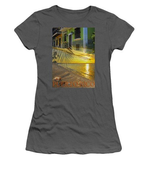 Puerto Rico Collage 3 Women's T-Shirt (Athletic Fit)