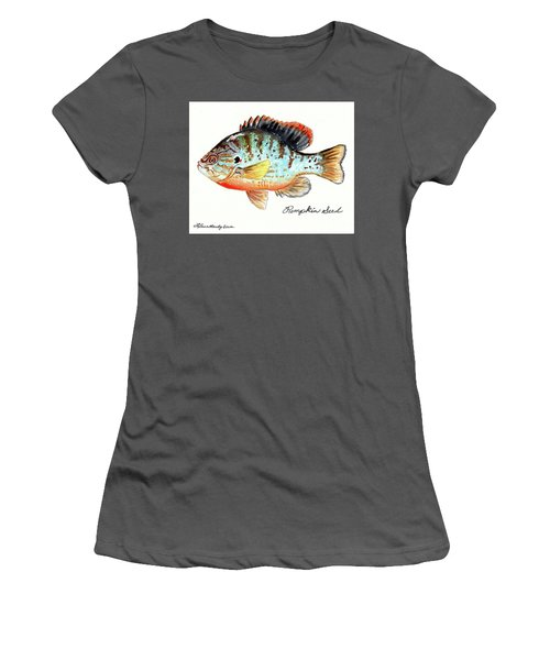 Pumpkin Seed Fish Women's T-Shirt (Junior Cut) by LeAnne Sowa