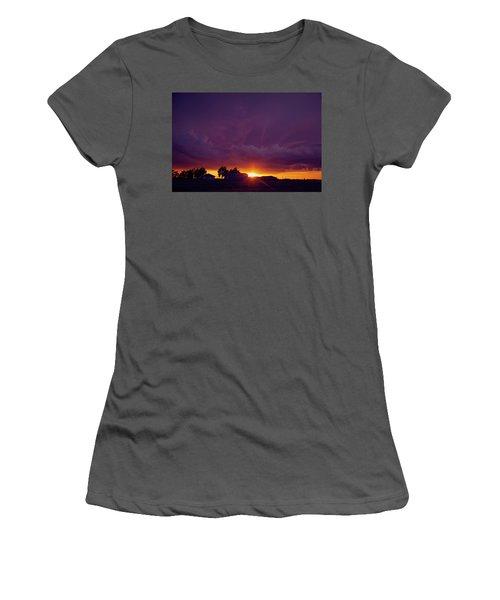 Purple Clouds Women's T-Shirt (Athletic Fit)