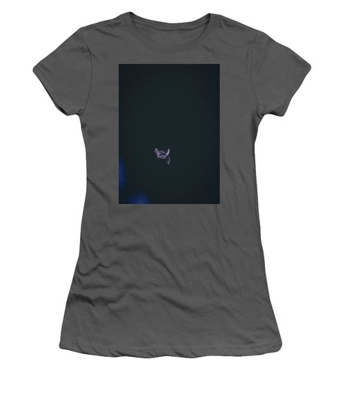 Women's T-Shirt (Junior Cut) featuring the photograph Purple Feather1 by Timothy Latta