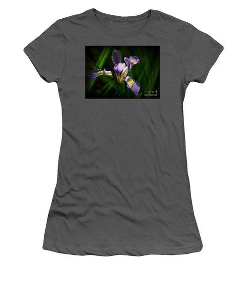 Purple Iris Women's T-Shirt (Junior Cut) by Lisa L Silva