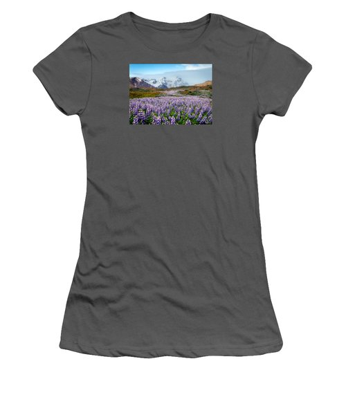 Purple Pathway Women's T-Shirt (Junior Cut) by William Beuther