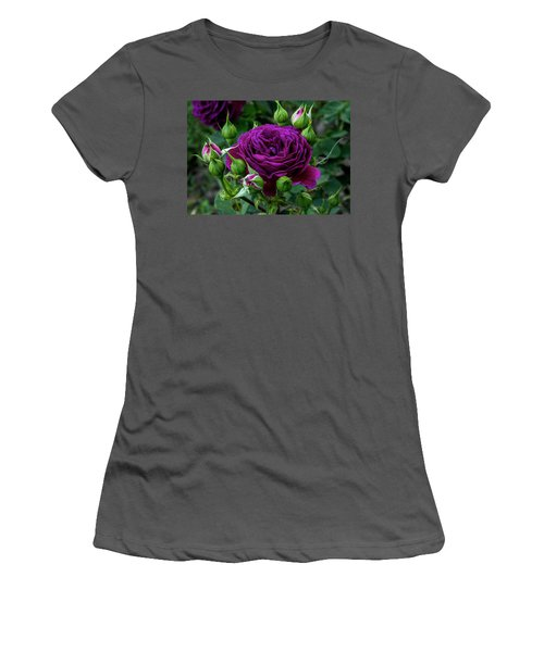 Purple Rose Women's T-Shirt (Athletic Fit)