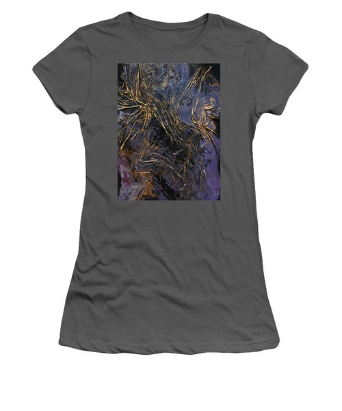 Purple With Texture Women's T-Shirt (Athletic Fit)