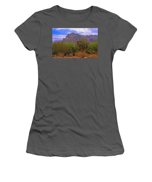 Women's T-Shirt (Athletic Fit) featuring the photograph Pusch Ridge Morning H10 by Mark Myhaver