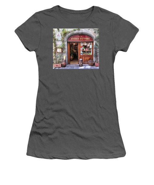 Quaint Restaurant In Florence Women's T-Shirt (Junior Cut) by Dave Mills