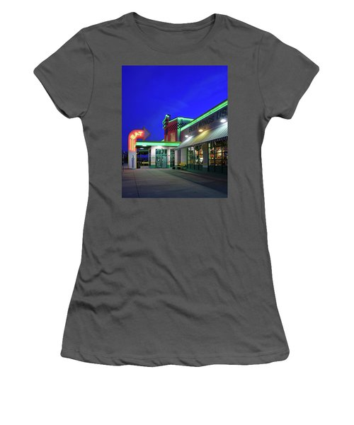 Women's T-Shirt (Junior Cut) featuring the photograph Quaker Steak And Lube by Christopher McKenzie