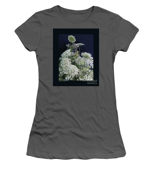 Women's T-Shirt (Junior Cut) featuring the photograph Queen's Bouquet-ii by Patricia Overmoyer