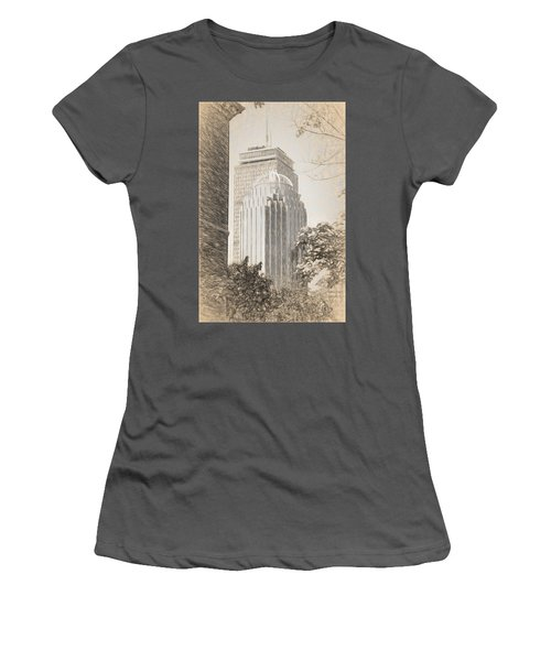 R2d2 Building And The Prudential Center Women's T-Shirt (Athletic Fit)