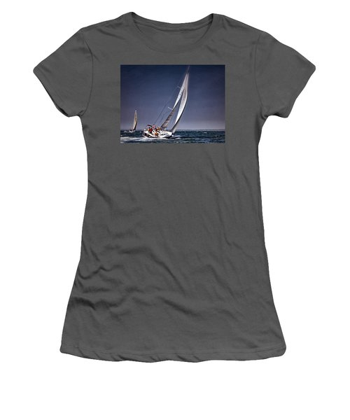 Racing To Nantucket Women's T-Shirt (Athletic Fit)