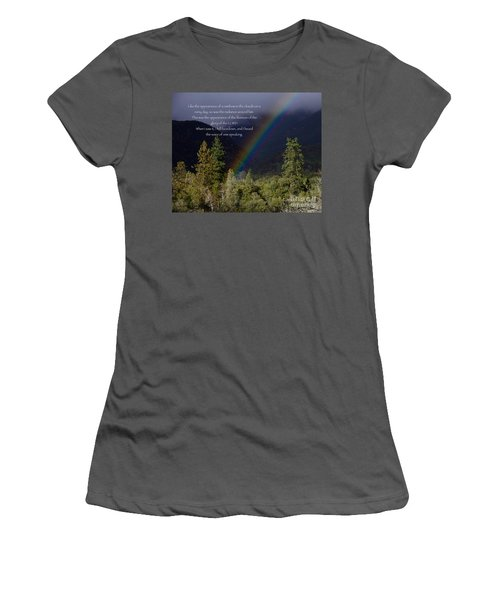 Women's T-Shirt (Junior Cut) featuring the photograph Radiance Of The Rainbow by Debby Pueschel