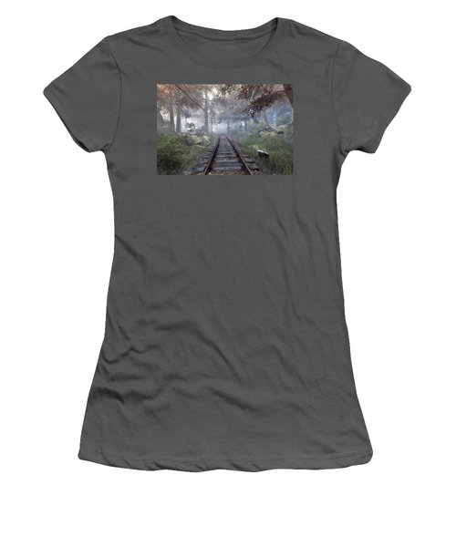 Rails To A Forgotten Place Women's T-Shirt (Athletic Fit)