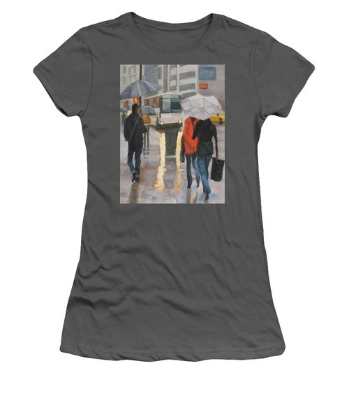 Rain In Midtown Women's T-Shirt (Athletic Fit)