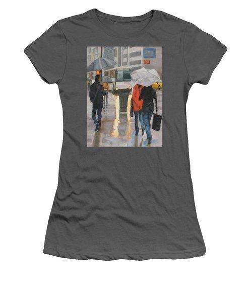 Rain In Midtown Women's T-Shirt (Athletic Fit)
