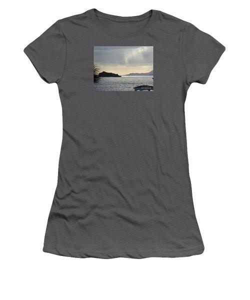 Rain Over Pelican Key Women's T-Shirt (Junior Cut) by Margaret Brooks