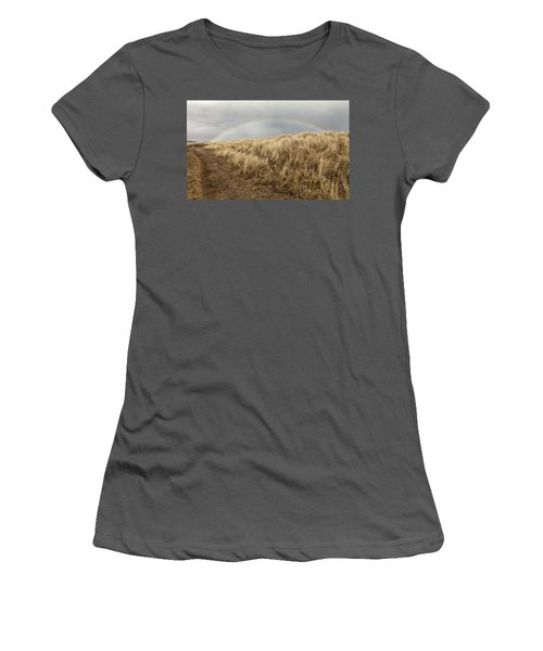 Rainbow By The Seaside Women's T-Shirt (Athletic Fit)