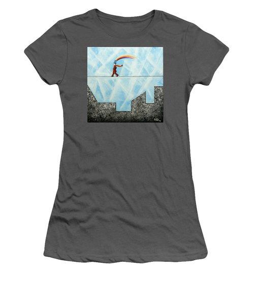 Rainbow Man Women's T-Shirt (Athletic Fit)