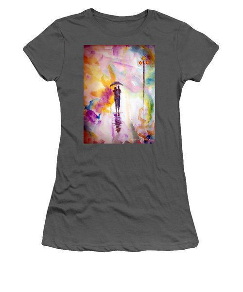 Rainbow Walk Of Love Women's T-Shirt (Athletic Fit)