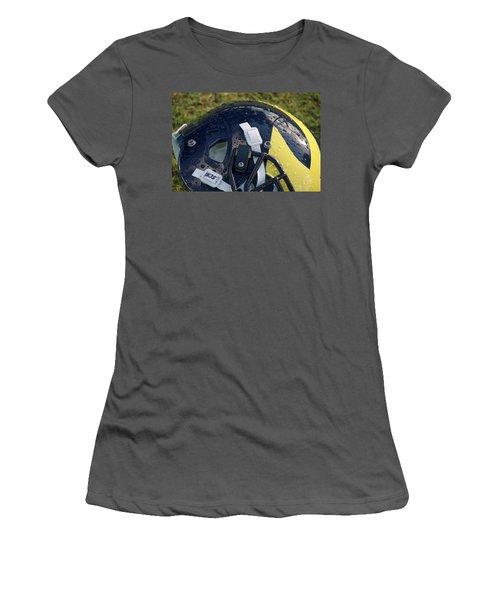 Raindrops On Wolverine Hellmet Women's T-Shirt (Athletic Fit)