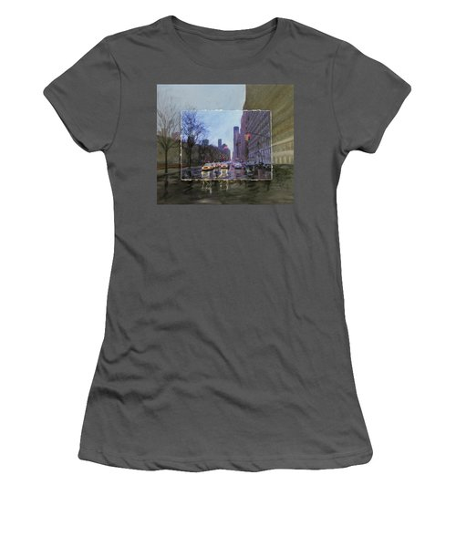 Rainy City Street Layered Women's T-Shirt (Athletic Fit)