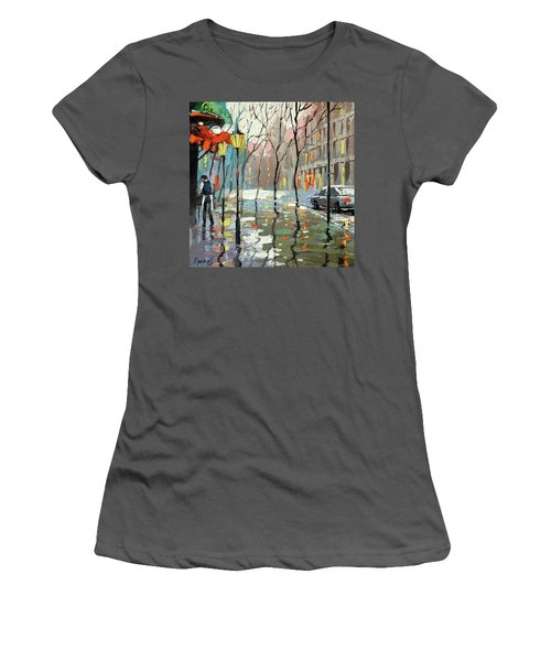 Rainy Landscape Women's T-Shirt (Athletic Fit)