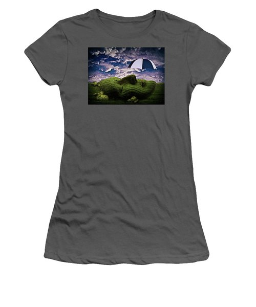 Rainy Summer Day Women's T-Shirt (Junior Cut) by Mihaela Pater