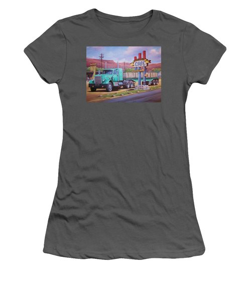 Ranch House Truckstop. Women's T-Shirt (Junior Cut) by Mike Jeffries